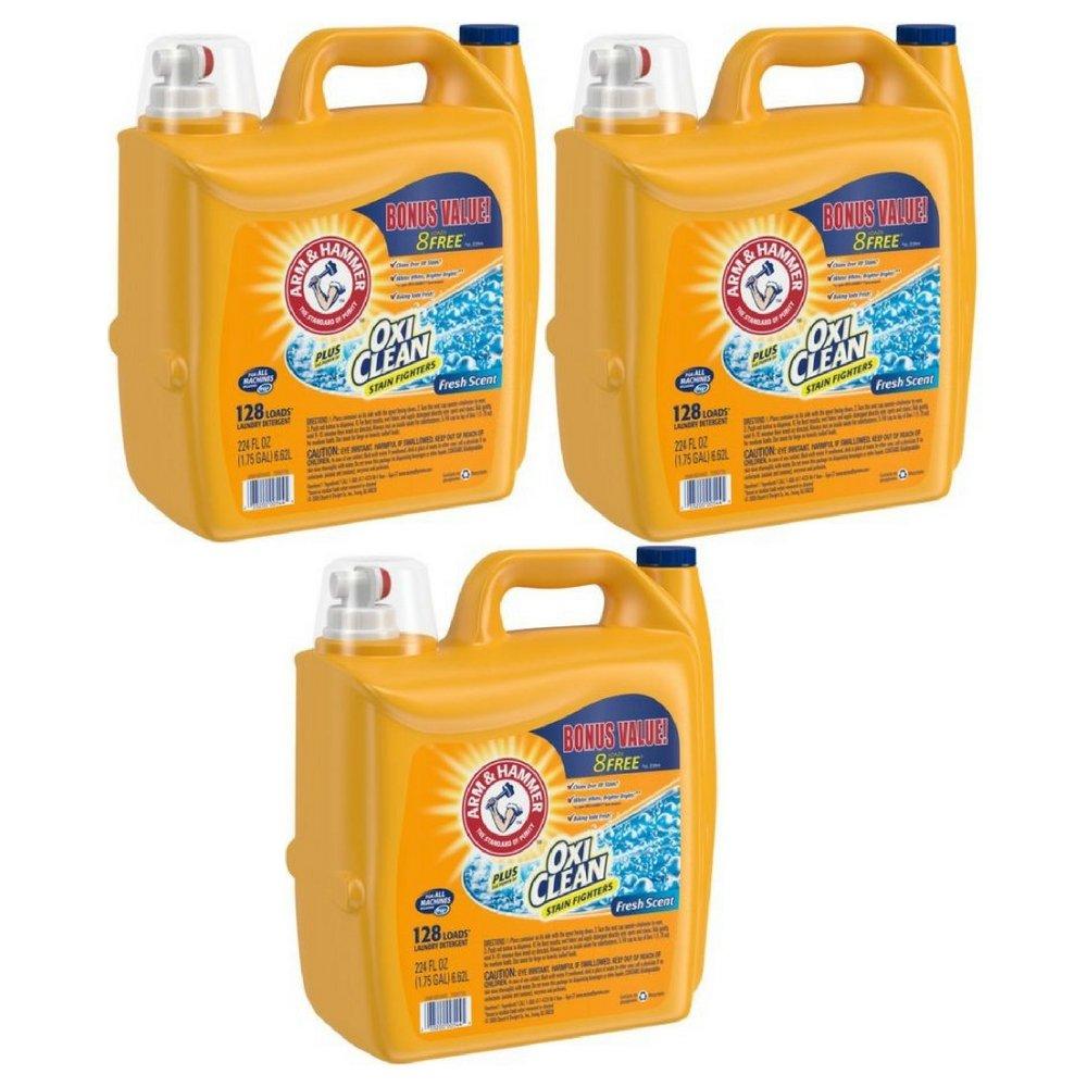 ARM & HAMMER Clean Burst Liquid Laundry Detergent, 255 fl oz 3 Pack
