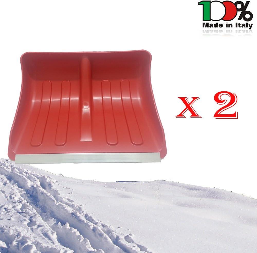 Spazzaneve Set e Colore a Scelta Pala da Neve 40 x 32 cm Lunghezza 120 cm con Bordo in Lega di Alluminio Paletta da Neve