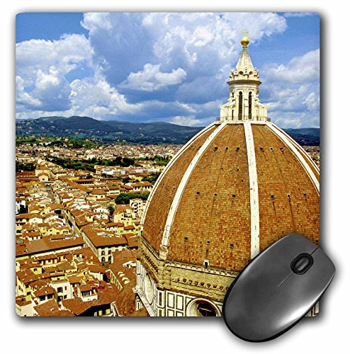 "3dRose Cathedral, Duomo Santa Maria Del Fiore, Florence Italy - Mouse Pad, 8 by 8"" (mp_137766_1)"