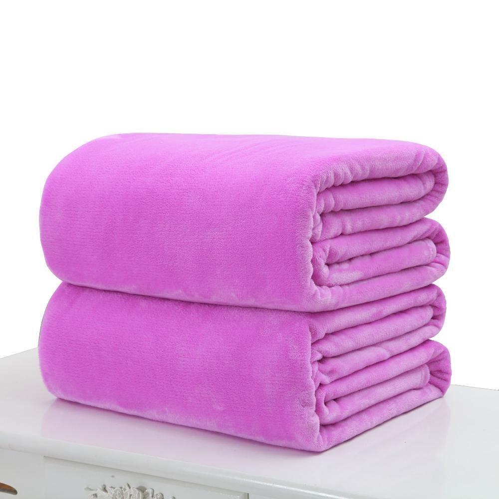 B 70100cmWUTOLUO Pet Bolster Dog Bed Comfort Pet Blanket Flannel Coral velvet sheet Little Blanket (color   D, Size   50  70cm)