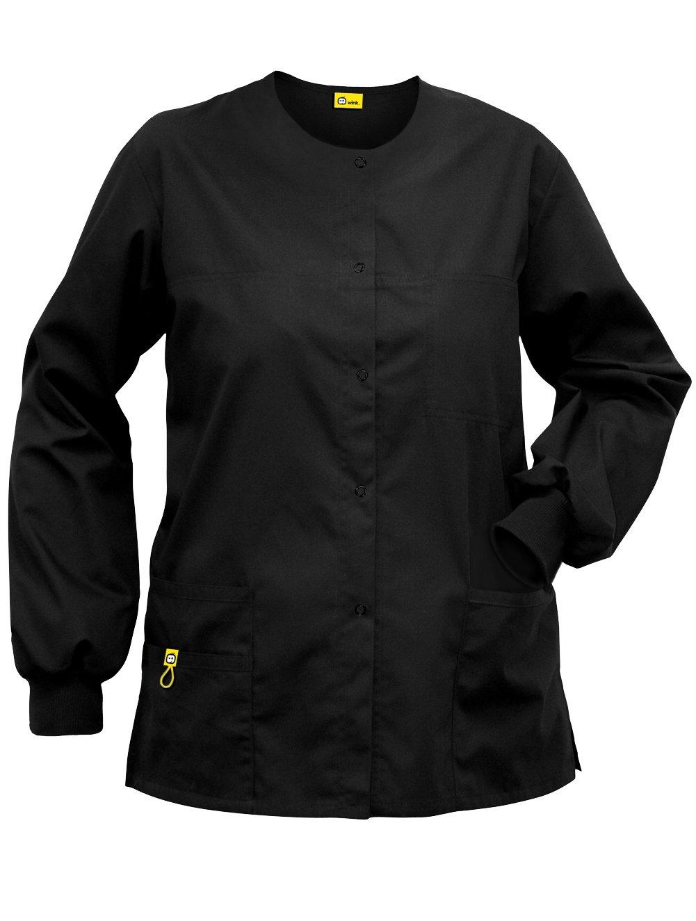 Wink 'The Delta' Scrub Jacket Black X-Large