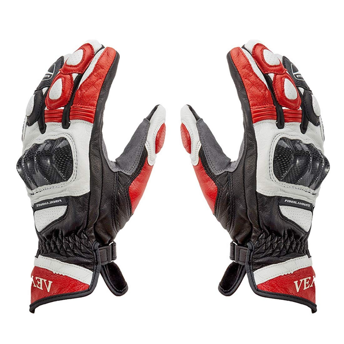 Annis6 オートバイ用グローブフルフィンガーサイクリンググローブクライミングハイキングアウトドアスポーツ (色 : レッド, サイズ : M) Medium レッド B07SDPQSLW