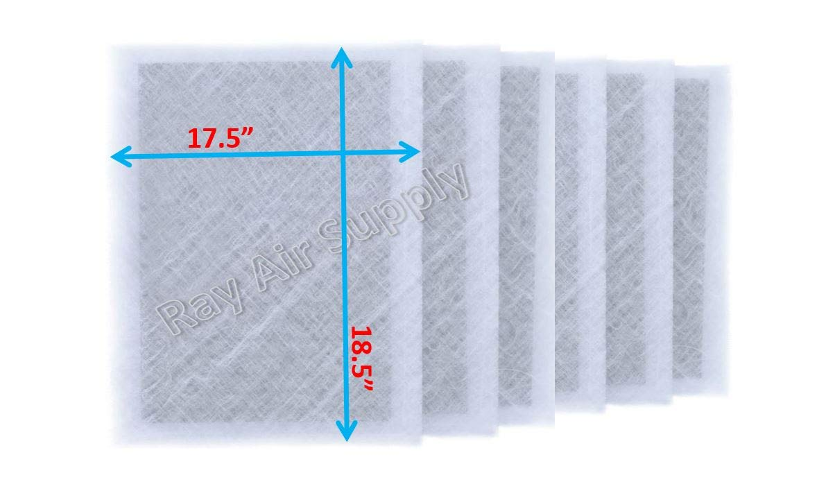 RAYAIR SUPPLY 20x20x2 Dynamic P2000 Air Cleaner Replacement Filter Pads 20x20 Refills White (6 Pack) 2020DWP2000