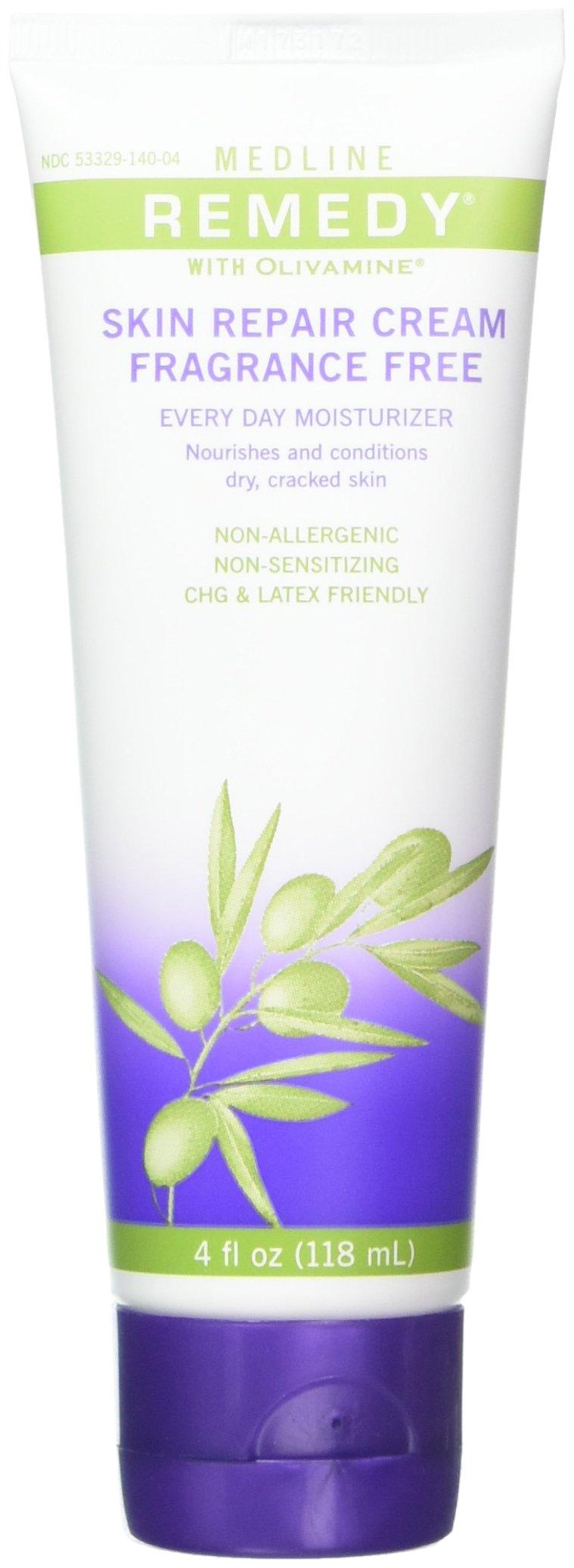 Medline Remedy Skin Repair Cream with Olivamine, 4 Ounce Lumene Sensitive Touch Comforting Night Cream, Sensitive Skin 1.7 fl oz (50 ml) By Chom