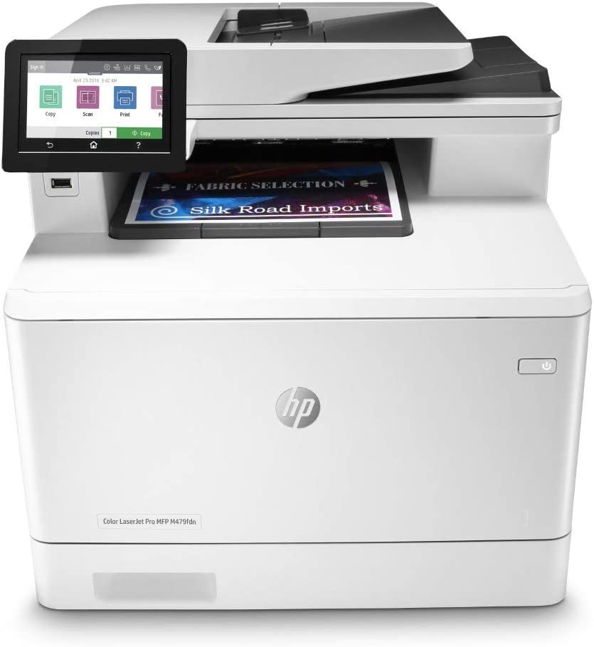 HP Color Laserjet Pro Multifunction M479fdn Laser Printer with One-Year, Next-Business Day, Onsite Warranty (W1A79A) (Renewed), White