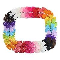 HABI 15/30 stk gefleckte gepunktet Schleife Fliege Accessoires Haarspange Haarklammer Haarclips für Babys, Kinder,Mädchen oder junge Frauen