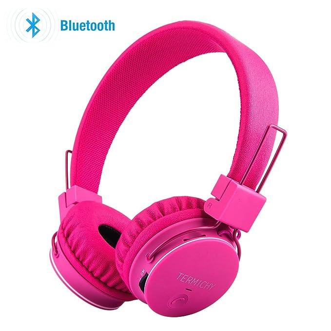 Amazon.com: Kids Bluetooth Headphones Foldable Volume Limiting ...