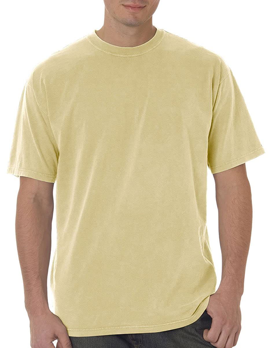 0b7fc1fc4 Amazon.com: Adult heavyweight cotton classic t-shirt. (Maize) (X-Large):  Clothing
