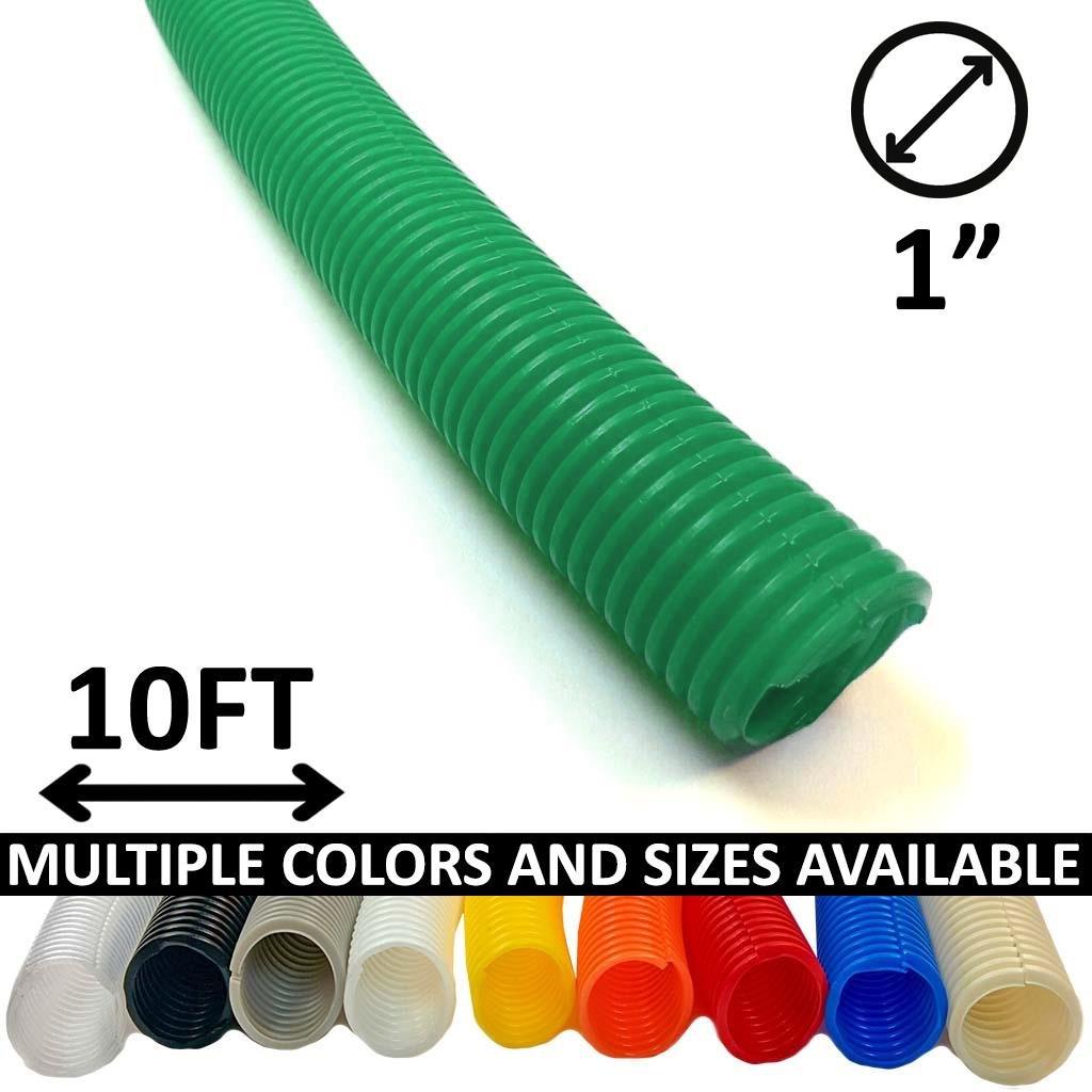 Blue Electriduct 1//4 Split Wire Loom Tubing Polyethylene Flexible Conduit 10 Feet