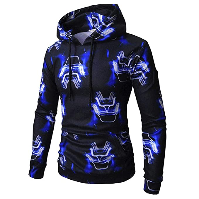 57862f95c0ad3 Malbaba-Men Long Sleeve Printed Hoodie Hooded Sweatshirt Top Tee Outwear  Blouse ...