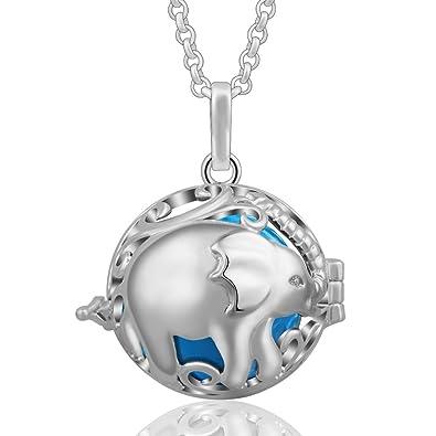 Eudora Harmony Ball Maternity Long Necklace 35inch Women Silver Lockets Pendant VxMI3GlZk