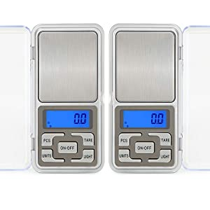 2pcs Digital Pocket Scale, 500g Capacity High Precision Balance of 0.01g, Mini Electronic Grams Reloading Weight Scale, Food Scale, Jewelry Gem Scale, Kitchen Scale, Weed Scale