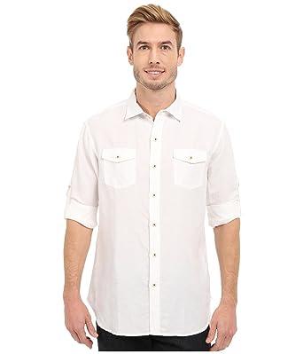 f1a4279ddc Tommy Bahama Men s New Sand Linen L S White Shirt at Amazon Men s ...