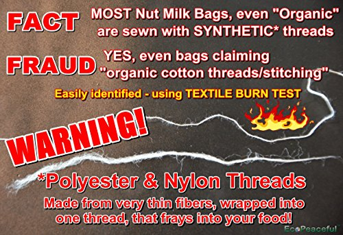 USA-Organic-Cotton-Nut-Milk-Bag-With-Loop-Read-our-Fake-Organic-Warning-Truly-all-100-Organic-cotton-sewn-w-Scanfil-100-Organic-Cotton-Threads-Large-Size
