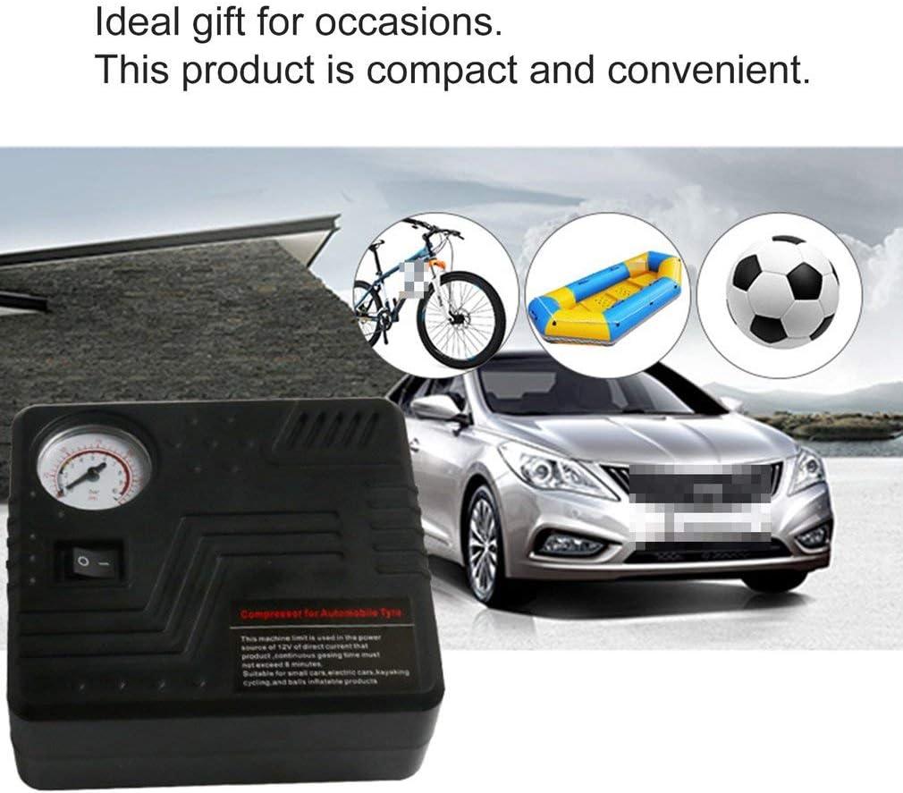 Sunnyday Pompe Mini /électrique DC 12V Voiture compresseur dair 120 PSI compresseur dair gonfleur Pneu Gonflable Pompe pour Voiture Motos bicyclettes