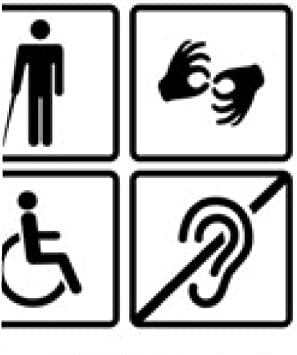 alfombrilla de ratón signos con discapacidad: Amazon.es ...