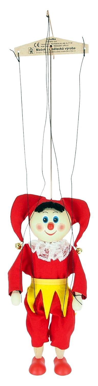 ABA 20cm en bois Ceinture Jester Marionnette Jouet (Jaune)