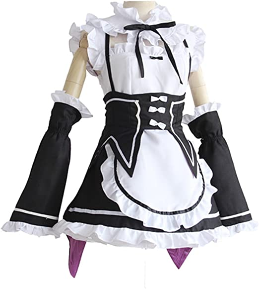 Re:Life in a Different World from Zero Rem Ram Cosplay Costume Dress Maid Suit