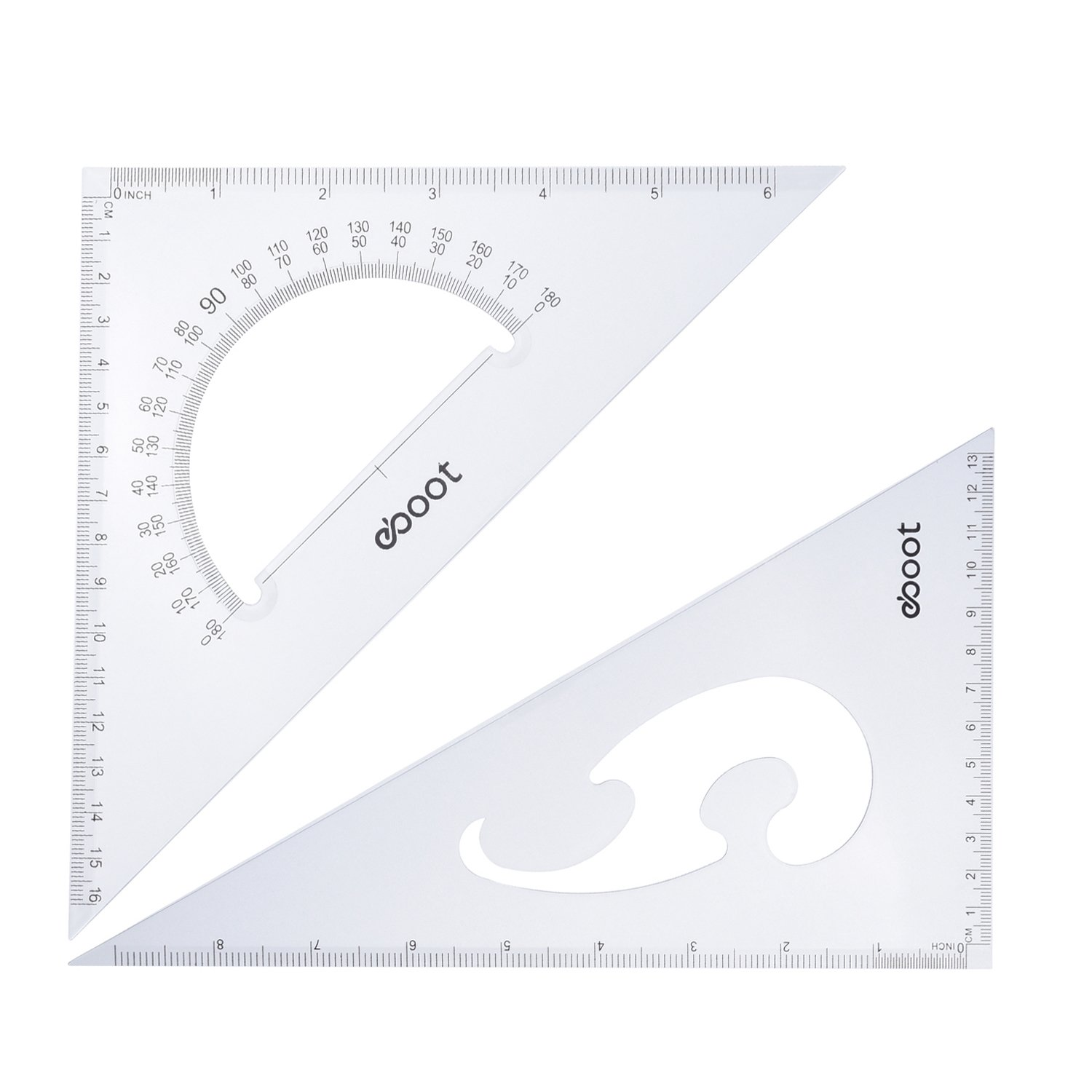 eBoot Large Triangle Ruler Square Set, 30/60 and 45/90 Degrees, Set of 2 by eBoot (Image #2)