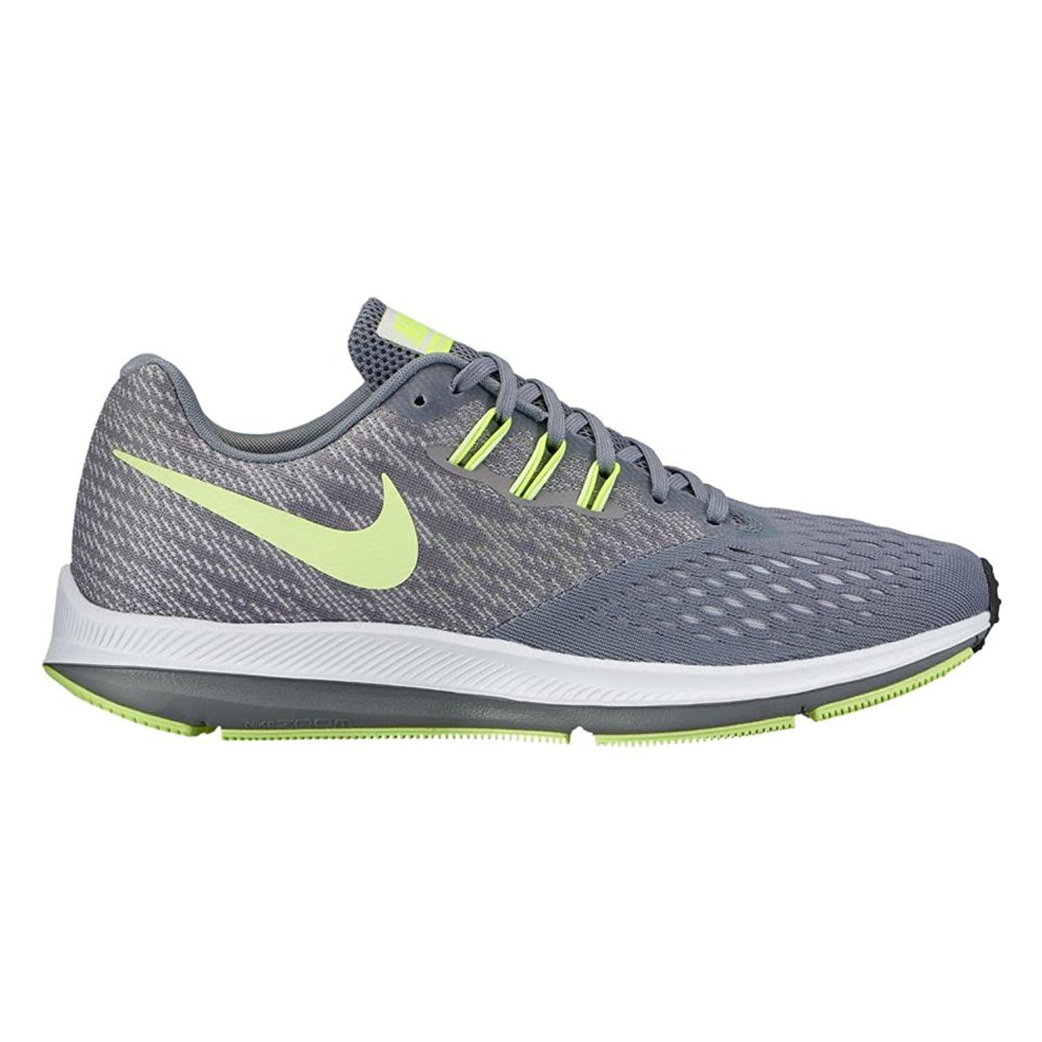 Nike Womens Air Zoom Winflo 4 Running Shoe Cool Grey/Barely Volt-Pure Platinum 9