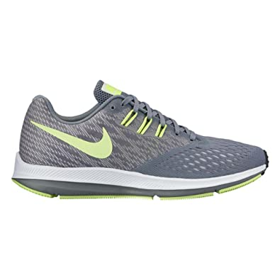 Nike Women's Air Zoom Winflo 4 Running Shoe, Cool Grey/Barely Volt-Pure