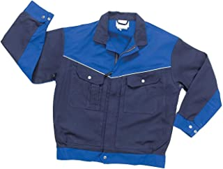 Hydrowear 045489 Groningen Image Line Working Jacket, 60% Cotton/37% Polyester/3% Elasthan, 56 Size, Navy/Royal Blue