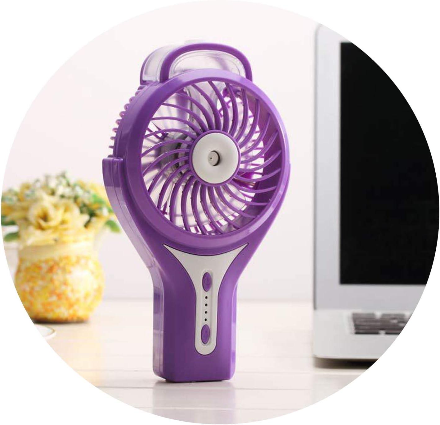 2019 Hot Three Settings Electric Desk Misting USB Handheld Mini Water Spray Fan Handheld USB Electric Mini Hand Fan,Red