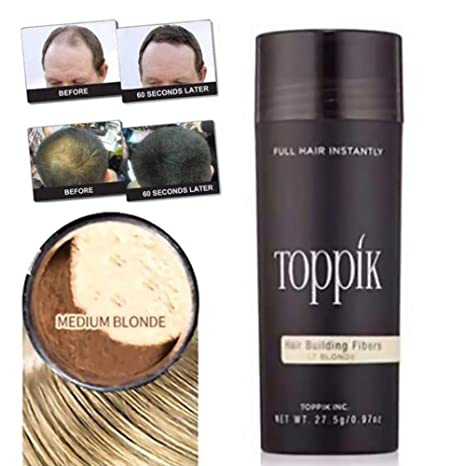 Comtervi Fibras de pérdida de cabello, fibras de construcción de pelo para cabello delgado, corrector de pérdida de cabello natural para hombres y mujeres: ...