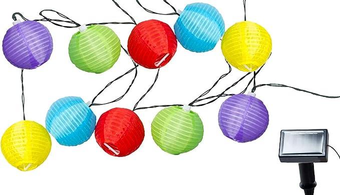 Guirnalda de luces para fiestas de colores – Cadena de luces solar ...