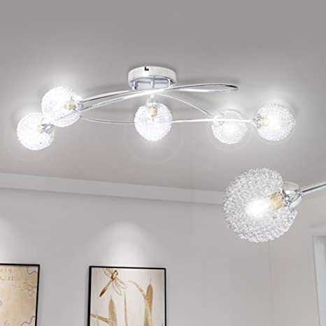Lámpara de techo con alambre Pantallas 5 x G9 iluminación de ...