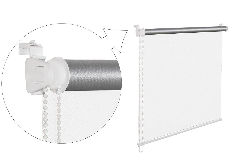 Store enrouleur tamisant 45x 200cm thermique Blanc Store de Fenêtre avec ichung thermique 100% abdunklung inkl. Cordon à support... 2016