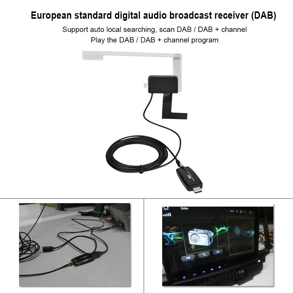 DAB Radio Tuner Stick with Antenna for Android Eboxer Portable USB2.0 Car Digital Radio Receiver DAB