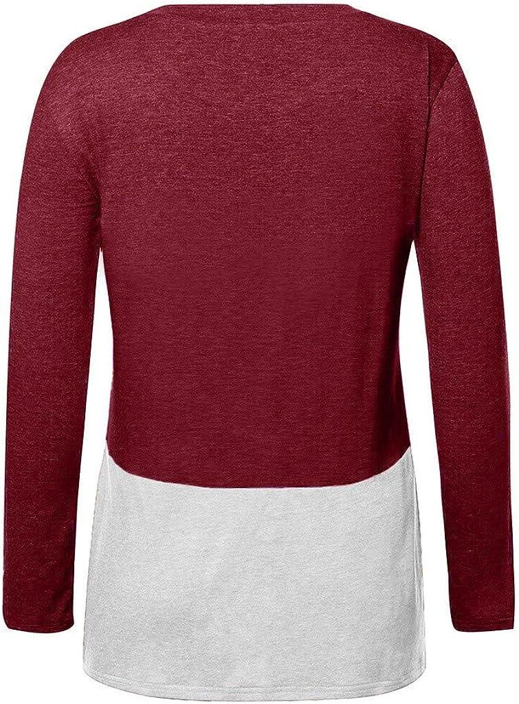 Moilant Womens Color Block T-Shirt Twist Knot Tops Casual Plus Size Tunic Tees Blouses