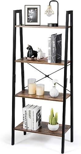 Tangkula Industrial Ladder Shelf