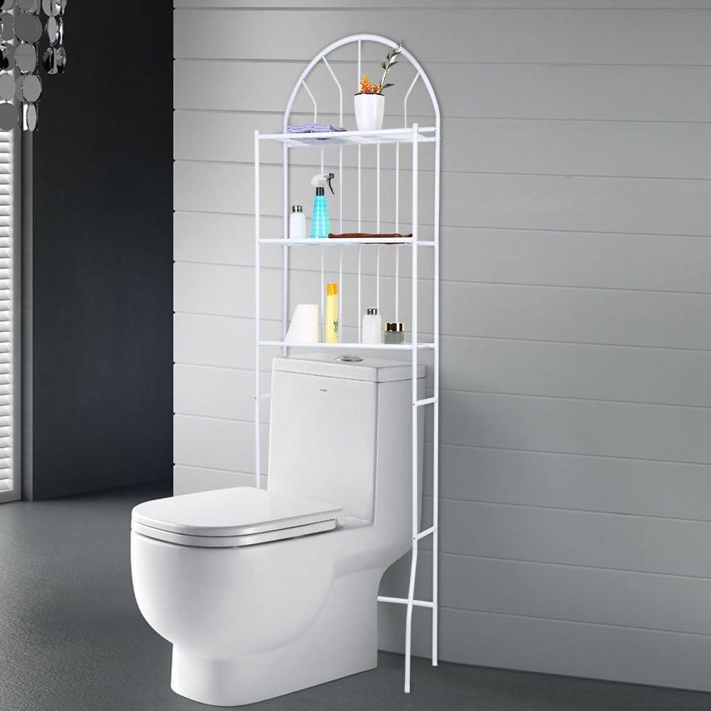 Toilettenregal, 11-Tier Weiß Multifunktional WC-Regal Badezimmer