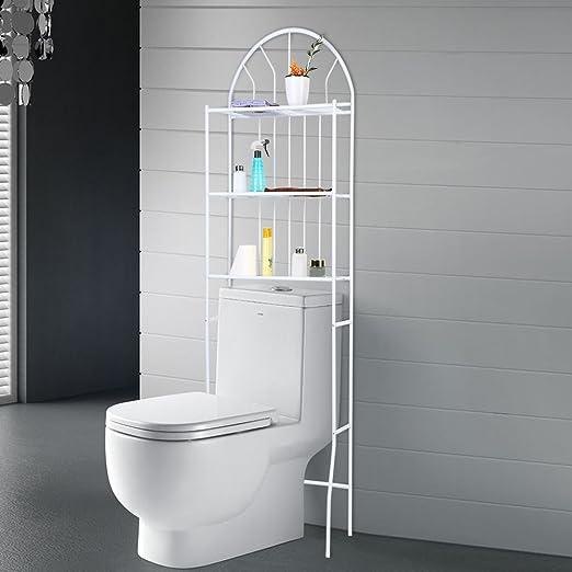 SKIESOAR - Estantes de baño para lavadoras de Inodoro, 3 estantes ...