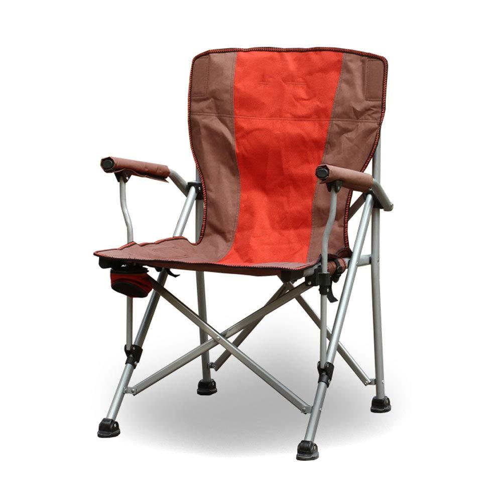 BFQY FH Hoch belastbarer Klappstuhl für den Außenbereich, Rückenlehne für den Sessel, Regisseur-Strand-Liegestuhl, Militärgrün-Orange-Rot optional