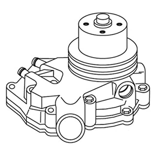 Amazon Com R90783 Water Pump With Pulley For John Deere 2940 2950