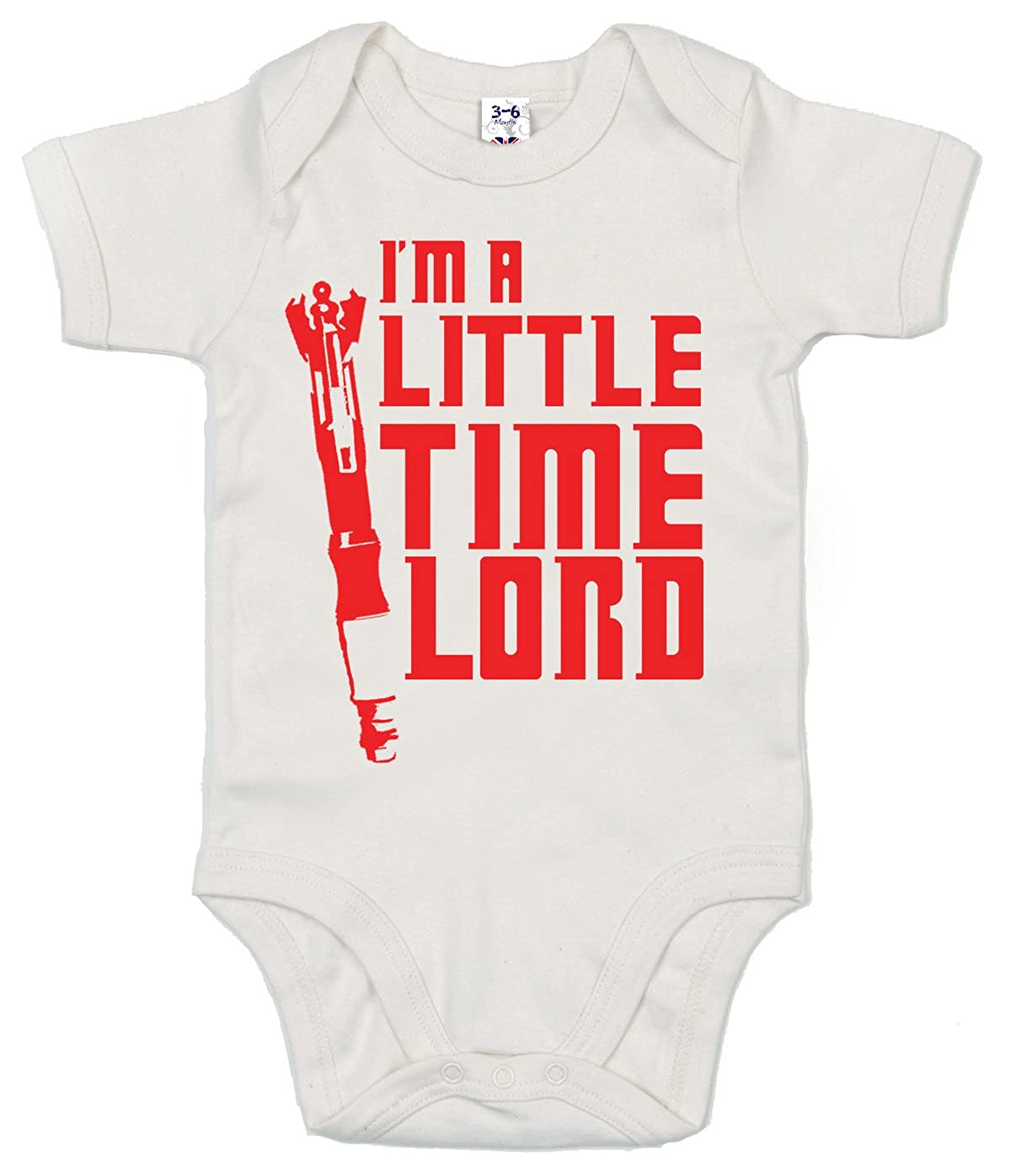 Im a little Time Lord Baby Unisex Bodysuit Dirty Fingers