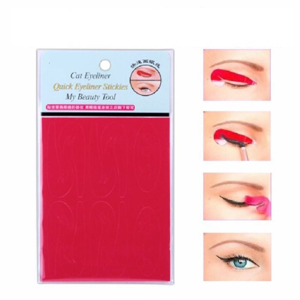LadyBeauty 6 Style Quick Eyeliner Stickies Smokey Eye Liner Makeup Stencil Set completo 32 pezzi