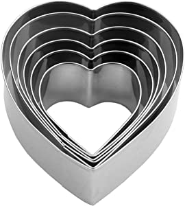 Heart Cookie Cutter Set - 6 Piece - 3 4/5