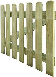 Cancela de madera para jardín 100 x 80 cm Valla Jardín Nice Puerta Puerta Jardín Garaje Exterior: Amazon.es: Bricolaje y herramientas