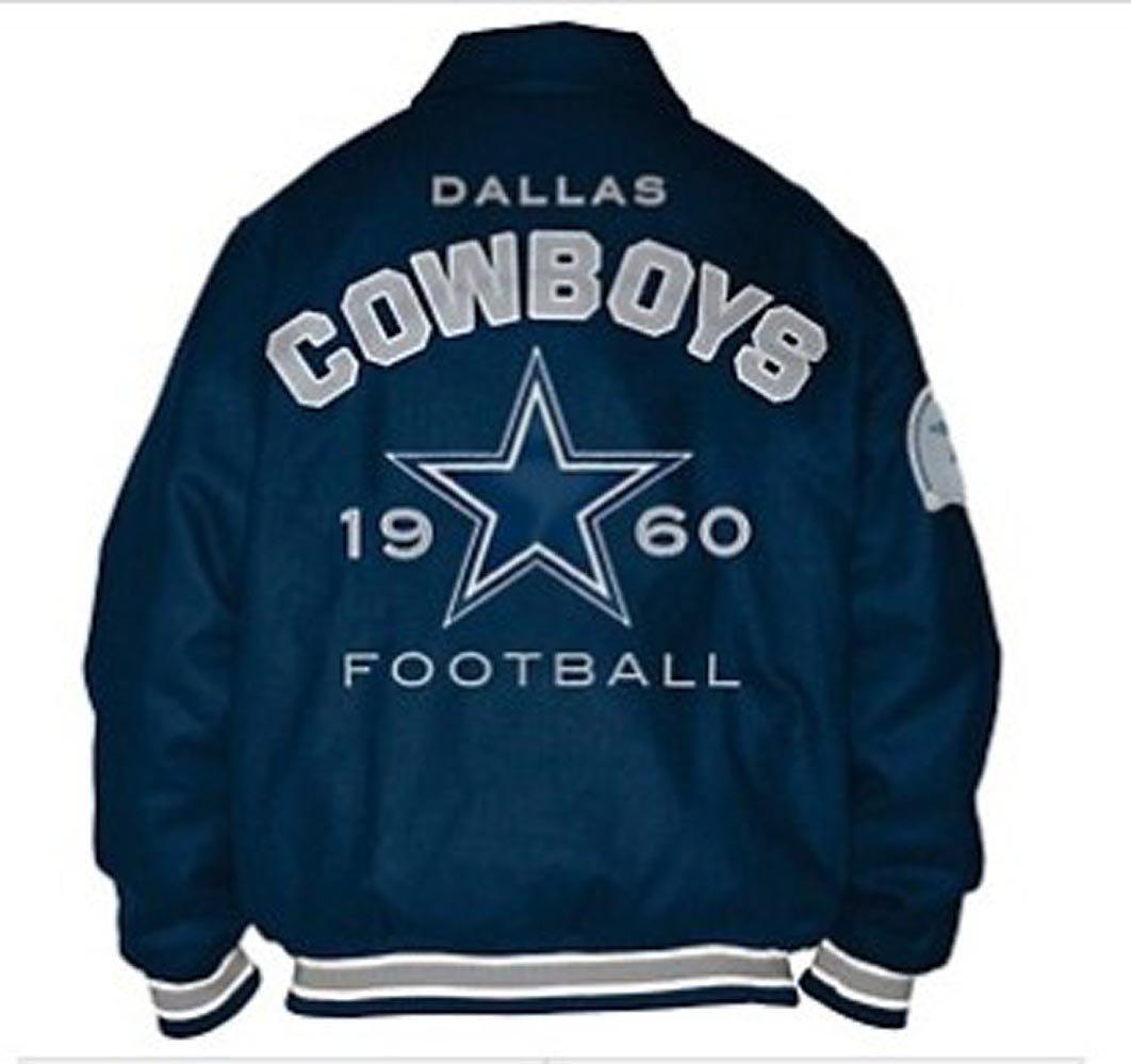 size 40 4d700 a2212 Amazon.com : Dallas Cowboys Jacket Wool Blend Varsity Coat ...