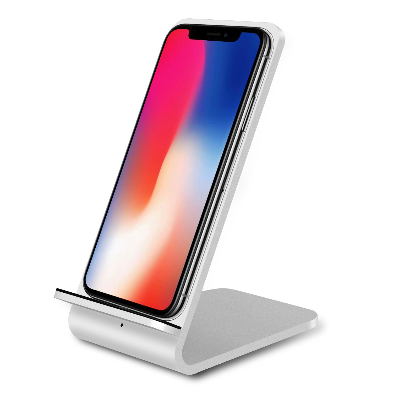 Qi Wireless Charger,Guanchi Aluminum Fast Wireless Charging Pad Stand (NO AC Adapter) for Galaxy Note 8 S8 S8 Plus S7 Edge S7 S6 Edge Plus Note 5, ...