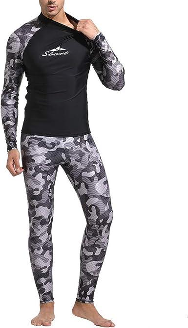 waotier Traje de Neopreno Camisa de natación para Hombre Buceo Camo erupción Protectora Camisas de Surf Playa Natación Protección UV Traje de Camuflaje Estampado: Amazon.es: Ropa y accesorios