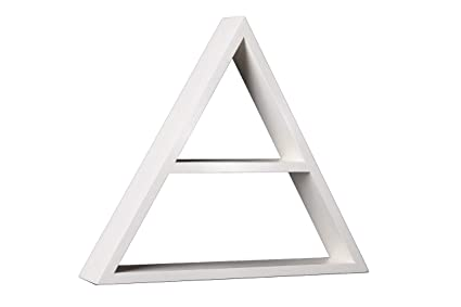 Made in America from Two Timbers Fine Furniture Triangle Shelf Set Rustic Solid Wood Farmhouse White Finish Primitive