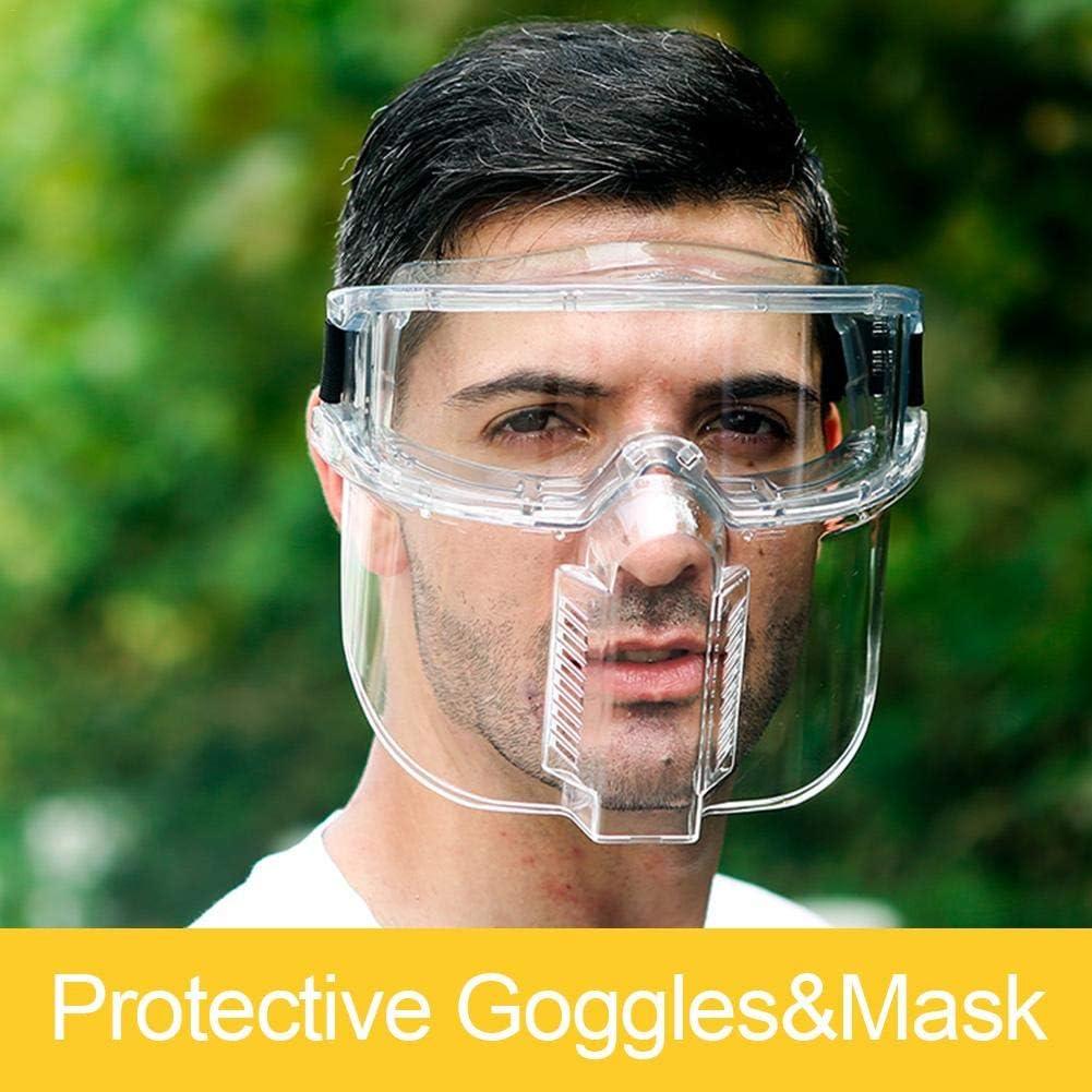 Gafas Protectoras, Careta Protectora Anti-gotitas Transparentes Conjunto De Ocular De Anteojos Separables, Lente Transparente Anti Salpicaduras Anti Arañazos Protección UV Impacto De Gafas