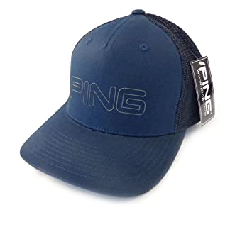 bcff7b361 NEW Ping Sports Mesh Navy Blue Fitted FlexFit S/M Hat/Cap: Amazon.co ...