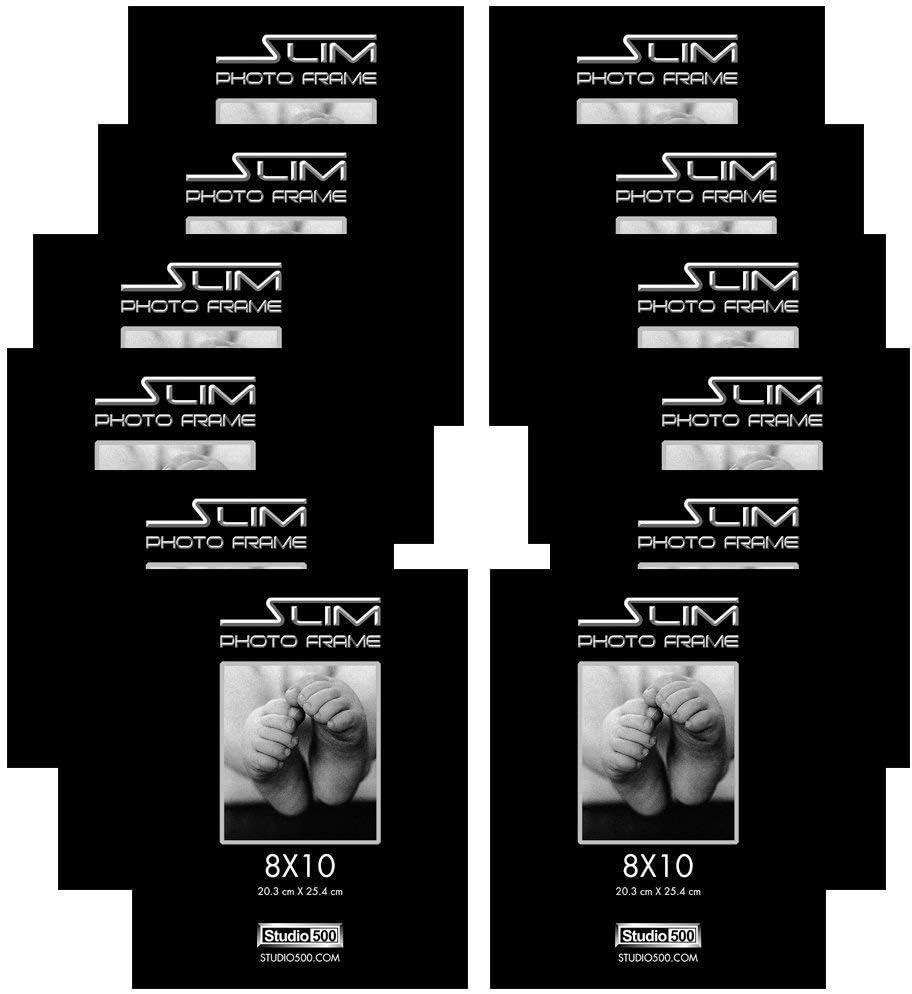 Studio 500 8x10-inch The Original Slim Photo Frames 100/% Tempered Glass 12-pack