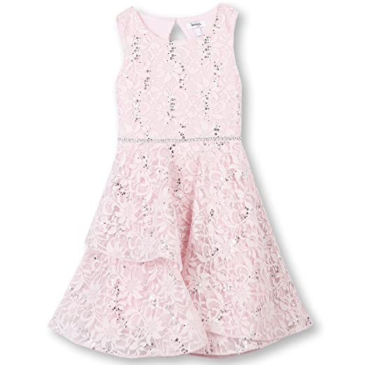 ab871aa31d13 Amazon.com  Speechless Girls  Big Allover Sparkle Lace Party Dress  Clothing